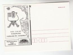 1997 GDANSK Poland EUROPEAN ST DOMINIC'S FAIR  Illus EVENT ADVERT Postcard Map - Poland
