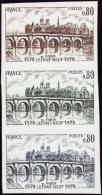 France Essais De Couleur N°1997 Le Pont Neuf De Paris Bande De 3 Bdf Qualité: ** Cote: 90 - Essais