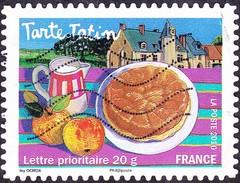 Oblitération Moderne Sur Adhésif De France N°  454 - Saveur Des Régions - Centre - Tarte Tatin - France