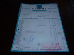 FF3LC149 Facture Ets Flandria Tiegem  Kortrijk Lessiveuse Essoreuse Tordeuse - 1960 - België