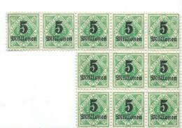 Allemagne/Timbres D´époque  Non Utilisés/11 Timbres / Hyperinflation/1920 - 1923          TIMB91