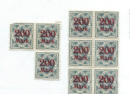 Allemagne/Timbres D´époque  Non Utilisés/6 Timbres / Hyperinflation/1920 - 1923          TIMB92