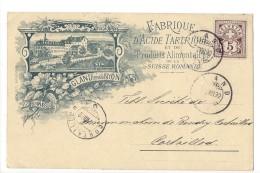 14382-  Gland Fabrique D'Acide Tartrique Et De Produits Alimantaires De La Suisse Romande 2 Scans - VD Waadt