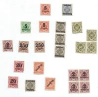 Allemagne/Timbres D´époque  Non Utilisés/vrac De 23 Timbres / Hyperinflation/1920 - 1923          TIMB93
