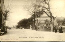 N°70 E -cpa Riva Bella -la Gare Et Le Café De La Gare- - Riva Bella