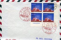 8045 Japan, Special Postmark 1966 Japanese  Polar Ship - Navires & Brise-glace