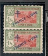 FrenchIndia1941-3:Yvert161mnh** Pair - India (1892-1954)