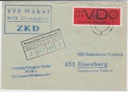 DDR Dienst D ZKD Mi 3 EF Bf Dresden Sachsen 1966 - Dienstpost