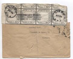Lettre Accidentée Liège En 1959 Gde Gff Correspondance Déchirée Accidentellement Au Cours Du Timbrage à La Machine AP909 - Marcophilie
