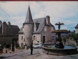 19 - MEYMAC - Place De La Fontaine. (Voitures: Renault R4, Peugeot 404...) - Otros Municipios