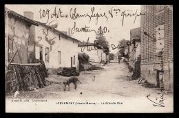 CPA ANCIENNE- LOUVEMONT (52)- LA GRANDE RUE EN GROS PLAN AVEC ANIMATION- BOIS- CHIENS - Frankreich
