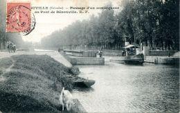 N°74 E -cpa Bénouville -passage D'un Remorqueur - - Remorqueurs