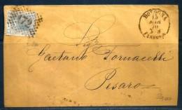 1870 REGNO Storia Postale  Lettera Viaggiata Per Pesaro - Storia Postale