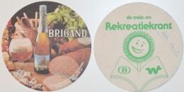 Sous-bock BRIGAND Br. Van Honsebrouck Ingelmunster Vleeswarenfabriek Salaisons Biva Izegem Rekreatiekrant Bierviltje (CX - Beer Mats