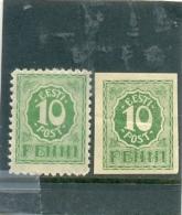 1919 ESTONIE Y é T N° 7 - 9 ( * ) Les 2 Timbres - Estonie