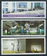 ESPAGNE SPAIN ESPAÑA 2016 MUSEUMS MUSEOS SET 3V MNH ED 5034-36 MI 5046-48 YT 4751-53 SC 4106-08 - 1931-Aujourd'hui: II. République - ....Juan Carlos I