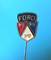 FORD - Usa Car * Vintage Pin Badge Anstecknadel Distintivo Automobile Auto Cars Automobil Voiture - Ford