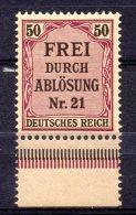 ALEMANIA REICH .  AÑO 1903.   DIENTSMARKEN Mi 8 (MNH) - Dienstzegels