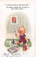 CPA Fantaisie - Illustrateur - COMIQUE Series - Enfant - Peinture - Humour - 1900-1949