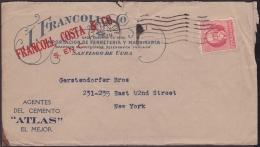 1917-H-260 CUBA REPUBLICA. 1917. 2c PATRIOTAS. 1922. SOBRE COMERCIAL FERRETERIA.  SANTIAGO DE CUBA A NEW YORK. - Lettres & Documents