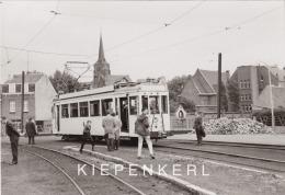 """ORIGINELE FOTO MEI 1966 TRAM 10188 TE RUMST MOLENBERGSTRAAT / VOORAAN DE TRAM BORD """"SCHEPDAAL"""" - Rumst"""