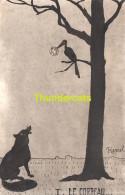 CPA ILLUSTRATEUR HERREL EDITEUR H. BAUSCHKA LE CORBEAU ET LE RENARD LA LUNE ARTIST SIGNED FOX AND RAVEN FAIRY TALE - Contes, Fables & Légendes