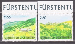 Liechtenstein 2008 Mi 1473-1474 Liechtenstein Alpine Pasture / Liechtensteiner Weidealpen **/MNH - Neufs