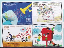 SOUTH KOREA, 2015, MNH, POST , POST CULTURE WEEK, BICYCLES, TRUMPETS,4v - Post