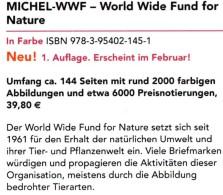 MICHEL Erstauflage Tierschutz WWF 2016 ** 40€ Topic Stamp Catalogue Of World Wide Fund For Nature ISBN 978-3-95402-145-1 - Deutsch