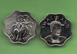 SWAZILAND - 10 CENTS 1998 KM49 - Swazilandia