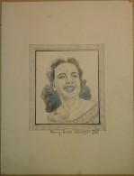 Dessin Au Crayon-Illustrateur -Terry Moore Est Une Actrice Américaine Née Le 7 Janvier 1929 à Los Angeles (3) - Dessins