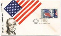 Uruguay Homage To US President Dwight Eisenhower FDC 1970 - Célébrités