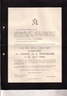 WUESTWEZEL Louise Comtesse Du Chastel De La HOWARDERIE 1862- Château De LANNOY Hollain 1951 Faire-part Décès - Obituary Notices
