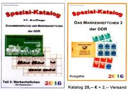 Teil 2+6 RICHTER 2016 Kataloge DDR Standard-Markenhefte+Spezial-MH3 Neu 50€ Booklet+carnet Special Catalogue GDR Germany - Alte Papiere