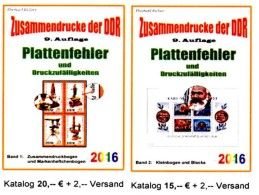 Teil 4+5 RICHTER 2016 DDR ZD-Abarten Bei Bögen+in Block/Kleinbogen Neu 35€ Se-tenant Error Special Catalogue GDR Germany - Alte Papiere