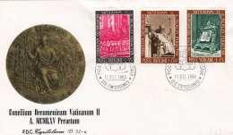 VATIKAN 1966 - FDC-Brief, 3 Fach Frankiert - FDC