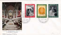 VATIKAN 1966 - FDC-Brief (2), 3 Fach Frankiert - FDC