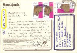 18B : Mexico Garment Cloth Stamp On Guanajuata Postcard - Messico