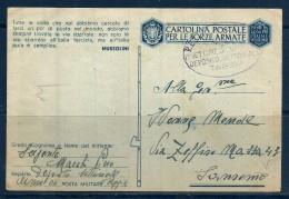 POSTA MILITARE Cartolina  In Franchigia Viaggiata Per Sanremo - Posta Militare (PM)