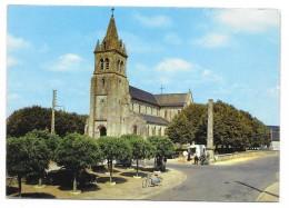 Cpsm: 58 DUN LES PLACES (ar. Clamecy) L'Eglise (Mobilettes Motobécane Bleu, Marchand Ambulant) 1975  N° 11.248 - France