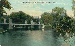 BOSTON -  Lake And Bridge.  Public Garden - Boston