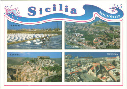 ITALIA - ITALY - ITALIE - Souvenir Dalla Sicilia - Multiviews - Wrote But Not Sent - Italia