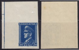 Independent State Of Croatia NDH 1943 Definitive, Imperforated, MH (*) - Croatie