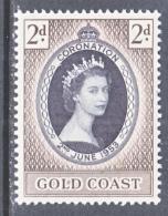 GOLD  COAST 160   *   Q E II  CORONATION - Gold Coast (...-1957)