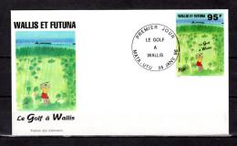 """WALLIS ET FUTUNA 1996 : Enveloppe 1er Jour """" LE GOLF A WALLIS """". N° YT 486. Parfait état. FDC"""