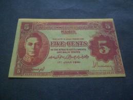 MALAYA 5C UNIFACE. - Banknotes