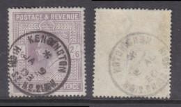 Great Britain, Edward VII, 2/6 Lilac Used KENSINGTON HIGH St No21 (?) W   JA  9  03,  C.d.s. - Usati
