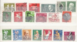 Germany 1958  Used Commemorative Stamps, Mostly Fine - [7] Federal Republic