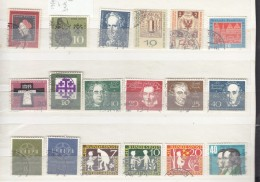 Germany 1959  Used Commemorative Stamps, Mostly Fine - [7] Federal Republic