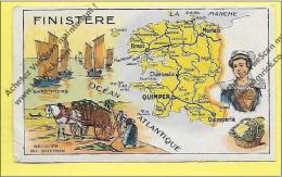 FINISTERE Carte Géographique « Image Bon Point Ecole, Constipation Reinette Duval, FINISTERE Carte Géographique » - Diplômes & Bulletins Scolaires